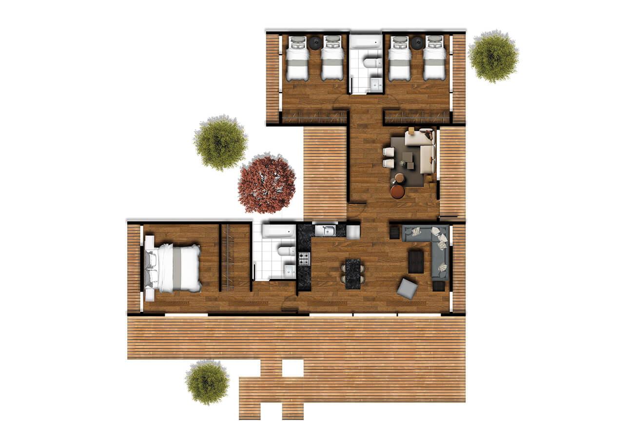 Casas prefabricadas Tunquen Planta