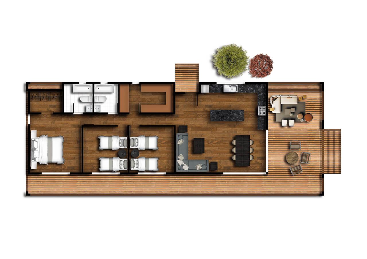 Casas prefabricadas pucon 1280