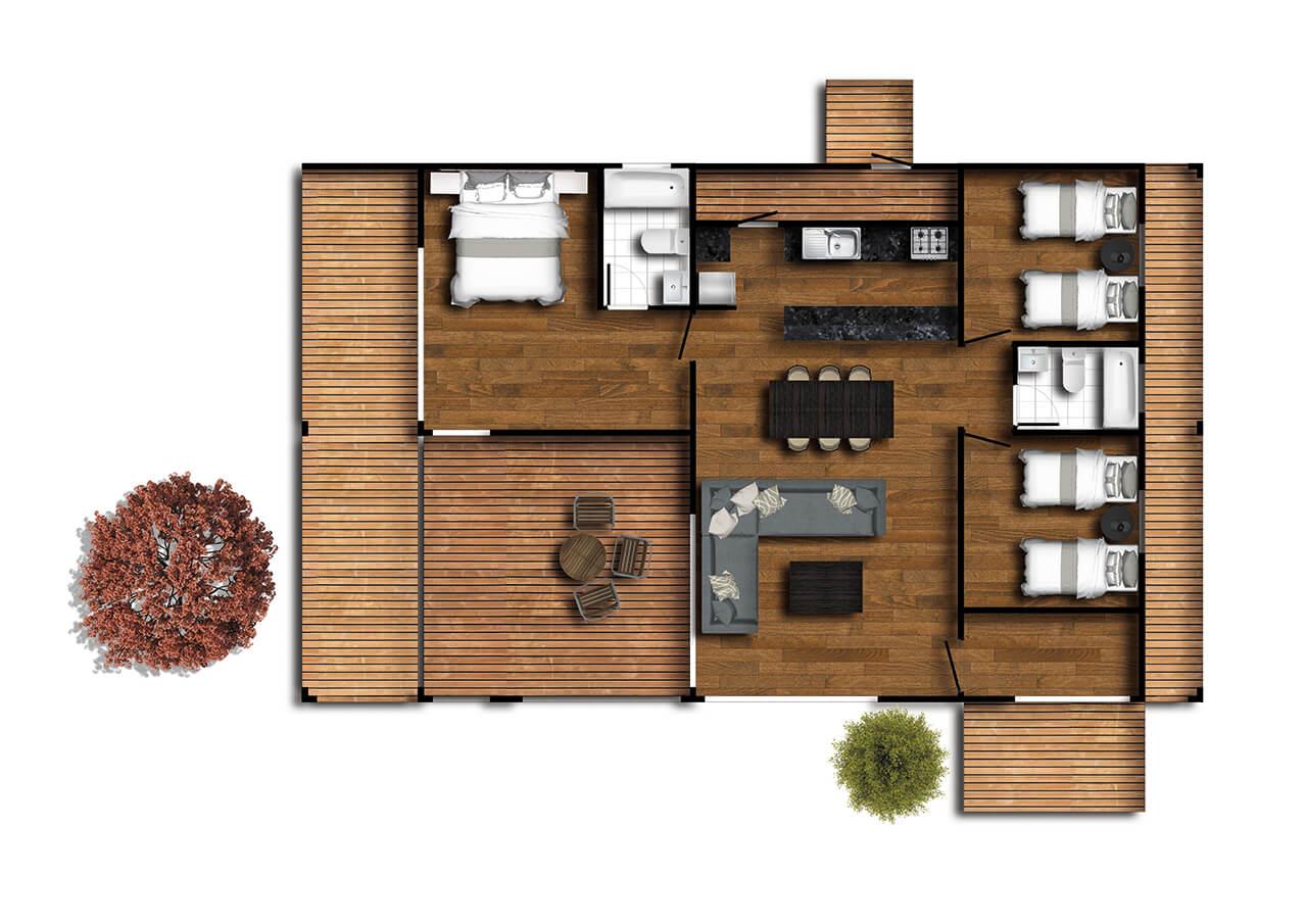 casas prefabricadas chillan planta