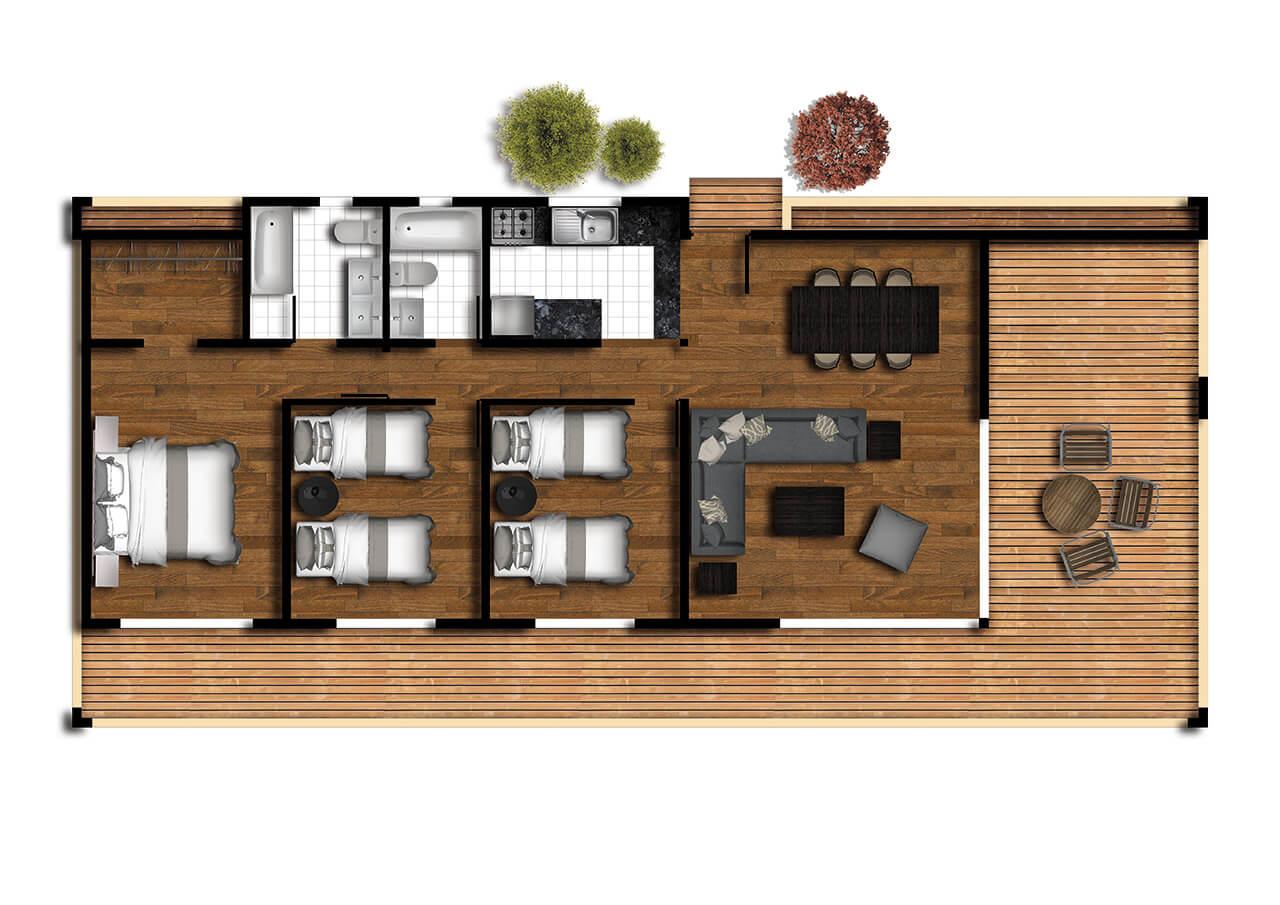 casas prefabricadas futrono planta